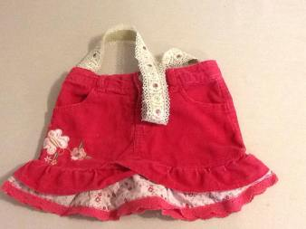 Item #1: Pink Corduroy with Jeweled Lace Strap